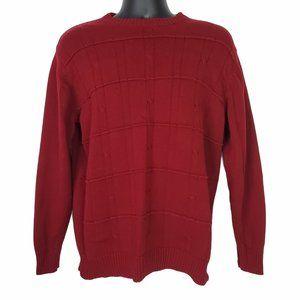 Oscar De La Renta Men's Cable Knit Sweater Large